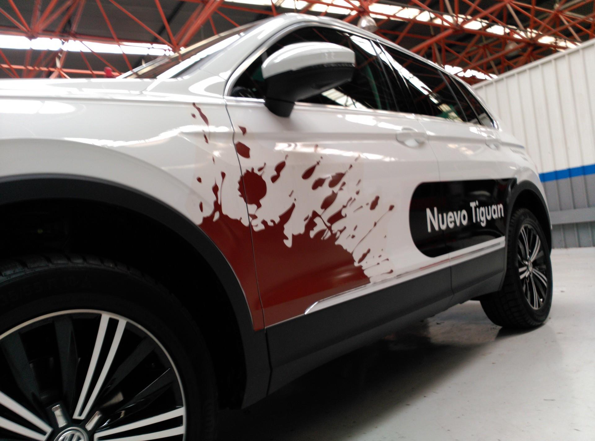 AUTO IRACHE (concesionario de Estella): rotulación del nuevo Tiguan