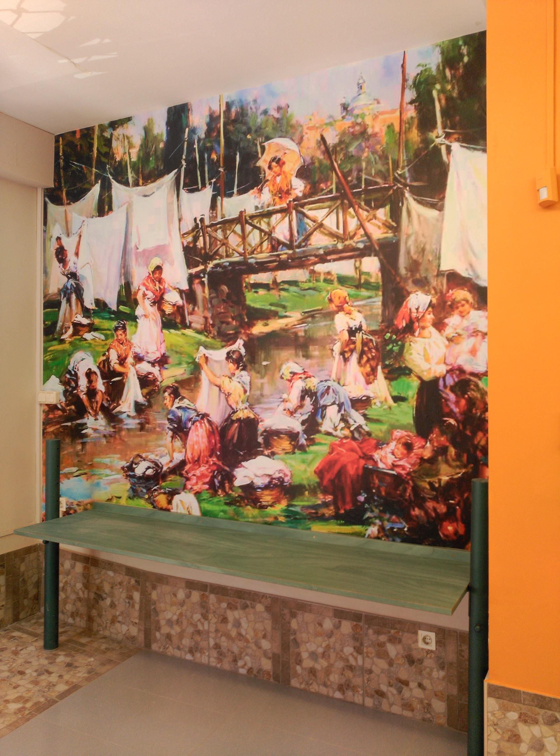 lavandería_lavanderas_decoración_interior_mural
