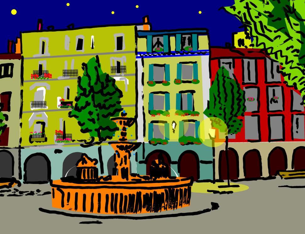 plaza_santiago_estella_navarra_ciudad_cuadro_adptación_estilo_decoracion_paredes_comercios_empresas_tiendas_despachos_interiorismo
