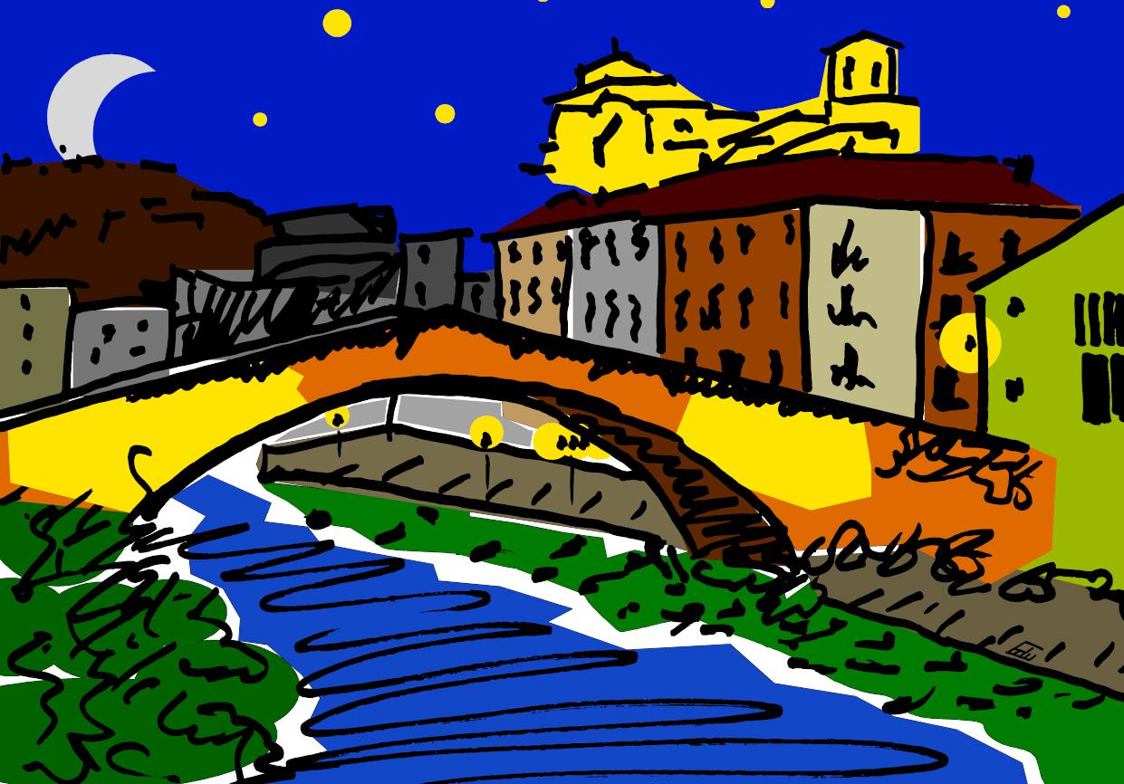 puente_de_la_via_estella_navarra_ciudad_cuadro_adptación_estilo_decoracion_paredes_comercios_empresas_tiendas_despachos_interiorismo