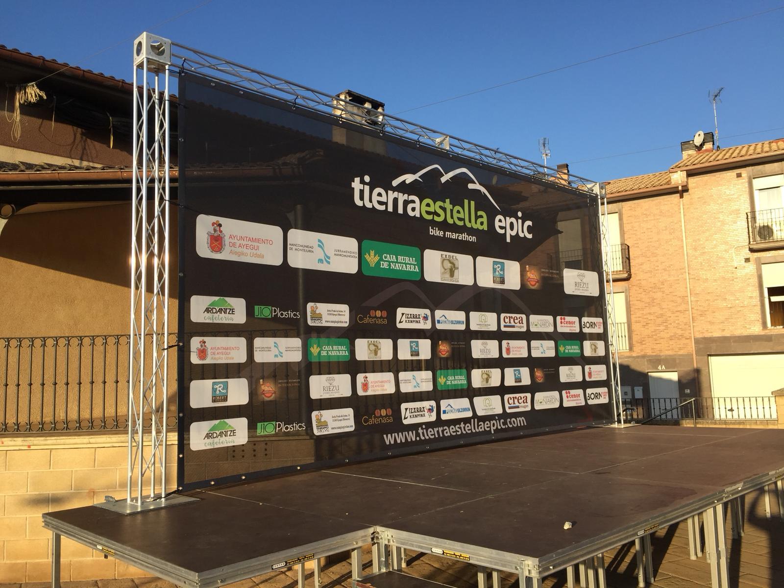 truss_stand_estructura_lona_tierraestellaEPIC_bike_bikers_marathon_ESTELLA_NAVARRA_IMPRESIÓN_DISEÑO_VINILOS_ROTULACIÓN